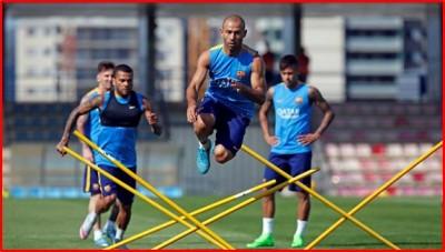 Salto Mascherano FC Barcelona