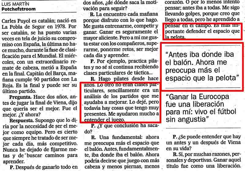 Entrevista Carles Puyol