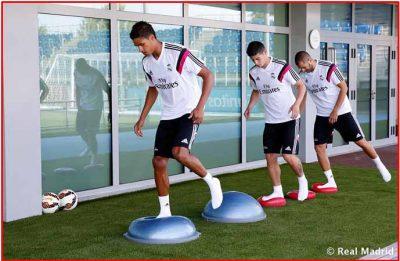 Javier Miñano. Ejercicios de Calentamiento prepartido del Real Madrid CF.