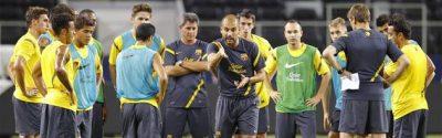 Pep Guardiola Entrenando