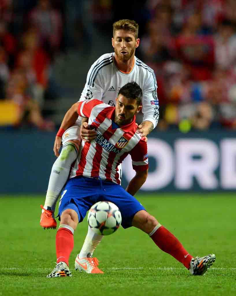 Duelo 1x1. Sergio Ramos y David Villa