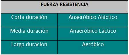 Fuerza Resistencia
