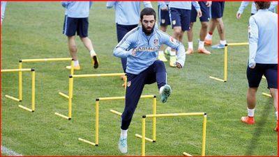 Entrenamiento Arda Turán Atletico Madrid