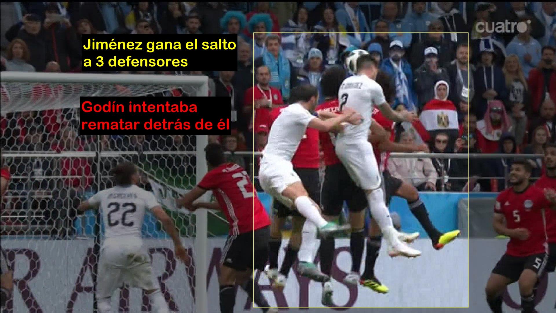 Gol Jiménez. Uruguay 1 - Egipto 0. Mundial 2018 Rusia