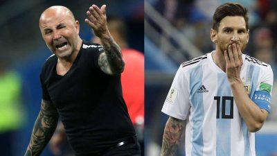Leo Messi & Jorge Sampaoli. Selección Argentina.