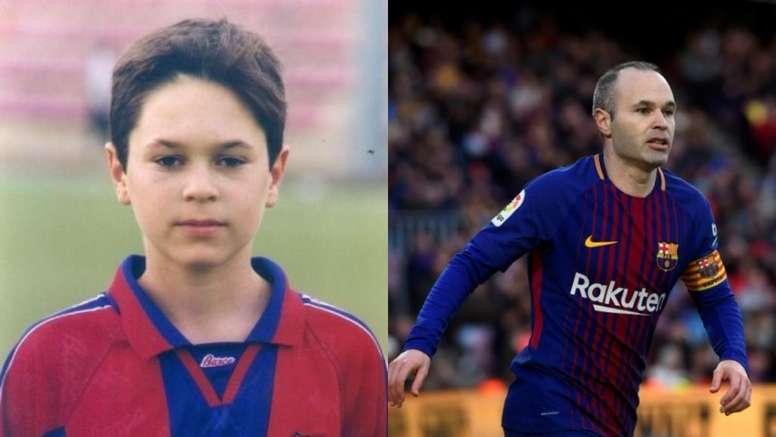 Andrés Iniesta en el fútbol base del FC Barcelona