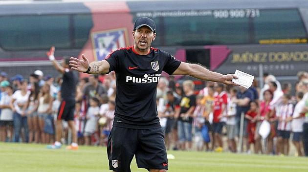 Simeone. Ejercicio de Entrenamiento en el Atlético de Madrid