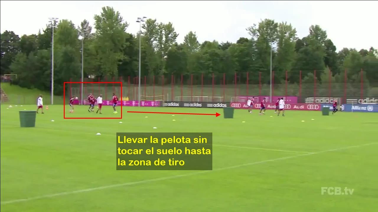 Ejercicio Entrenamiento Pep Guardiola. Calentamiento Bayern Munich