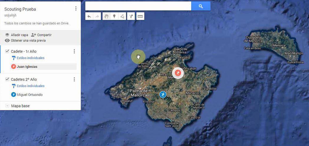 Scouting de Futbolistas. Geolocalización con MyMap