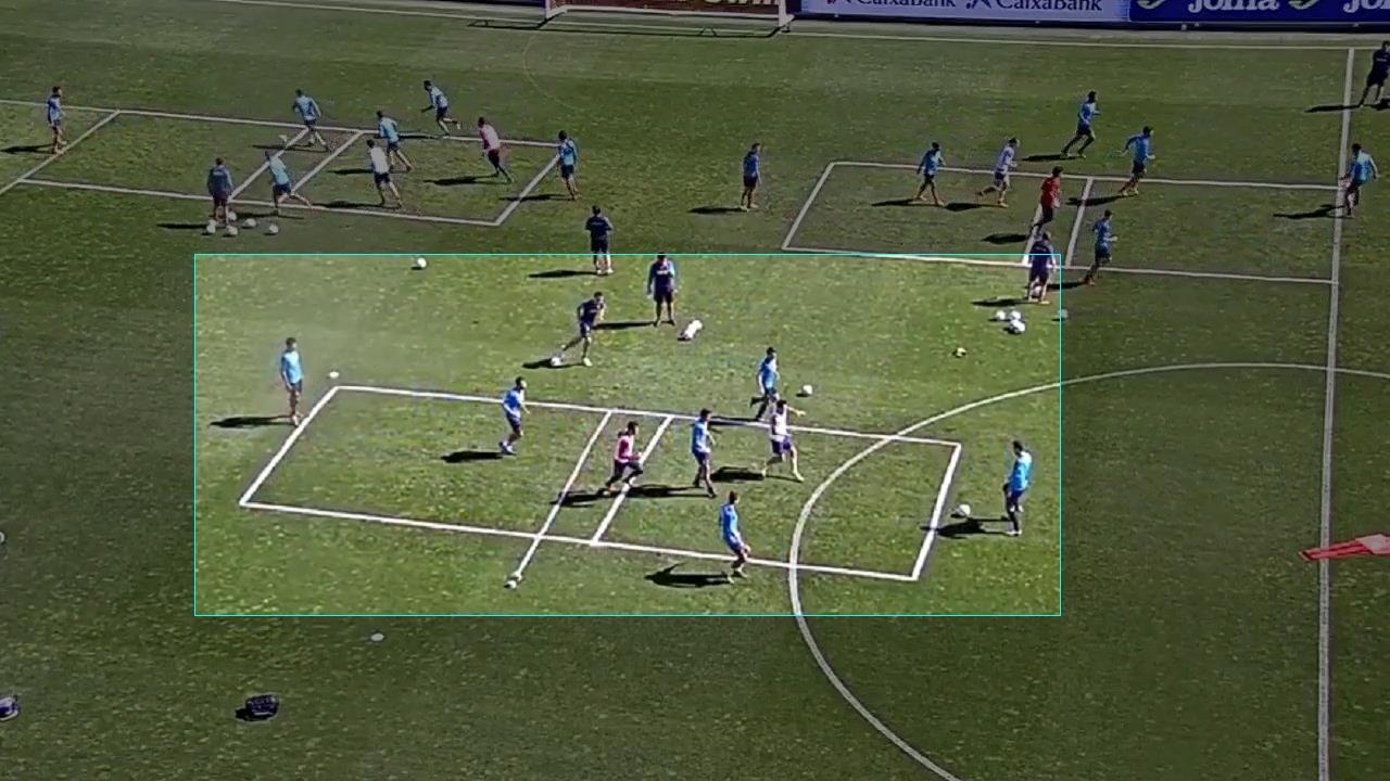 Rondo Bizonal 4x2+1+1. Ejercicio de entrenamiento de fútbol.