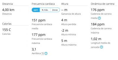 Reloj Deportivo Garmin 235. Datos generales.