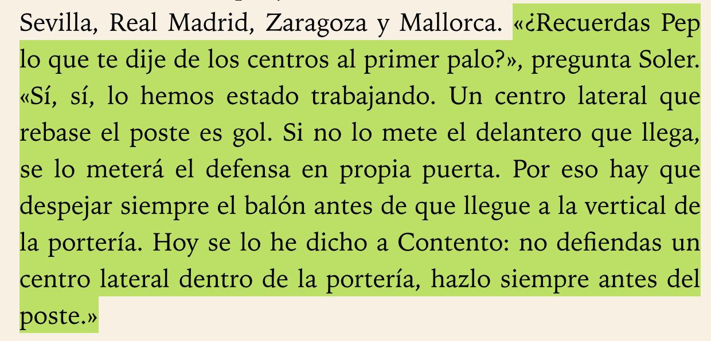 Miquel Soler & Pep Guardiola sobre la defensa del primer palo