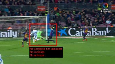 Análisis Gol de Braithwaite. FC Barcelona 3 – CD Leganés 1. 1ª División de Fútbol en España.