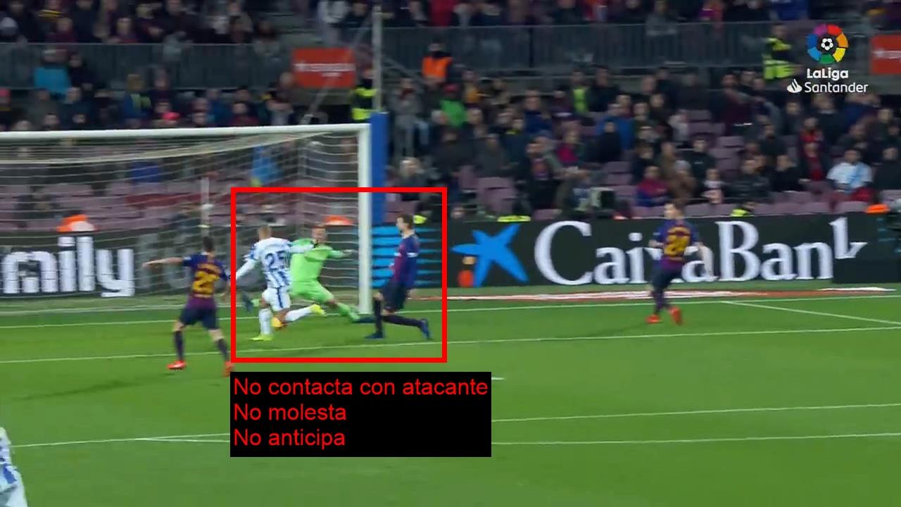 Gol de Braithwaite. FC Barcelona 3 - CD Leganés 1. Marcaje al Hombre sin Balón. MHsB