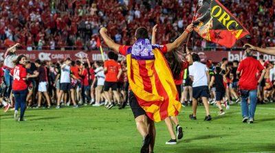 RCD Mallorca de Vicente Moreno. Ascenso a primera división frente al Deportivo de la Coruña. Invasión campo en Son Moix