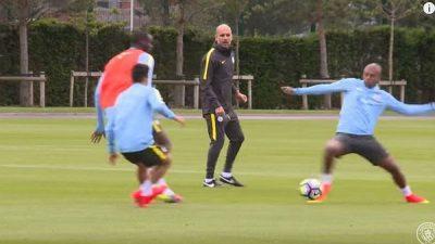 Ejercicio Entrenamiento de Pep Guardiola en el Manchester City