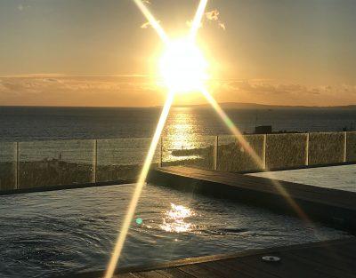 Sunset desde el Maravilloso sunset desde el skybar del Hotel Las Arenas en Can Pastilla