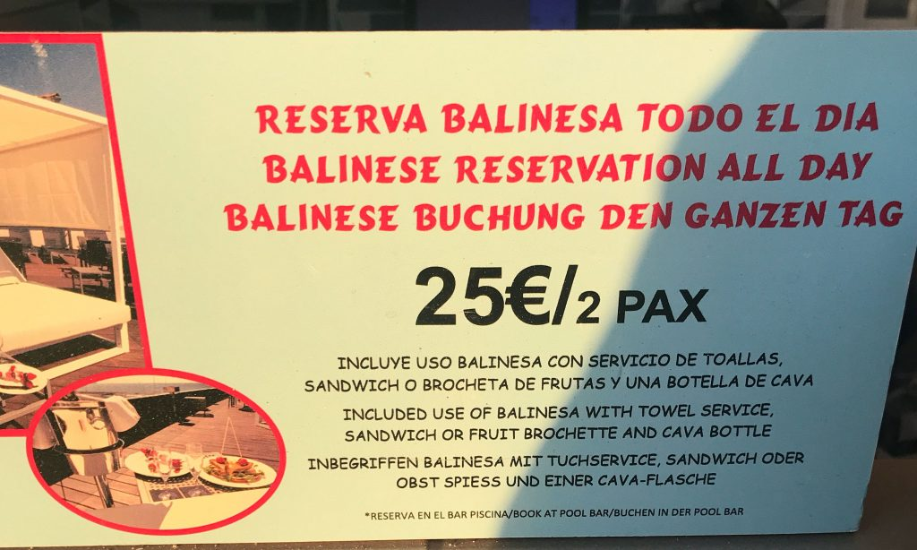 Oferta del Skybar del Hotel Las Arenas en Can Pastilla