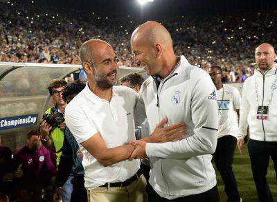 Pep Guardiola y Zinedine Zidane. Planteamiento Táctico.