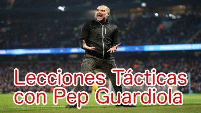 Lecciones tácticas de Guardiola. Pep explicando sus conceptos tácticos.