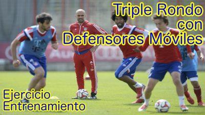 Triple Rondo con Defensores Móviles. Ejercicio de Entrenamiento
